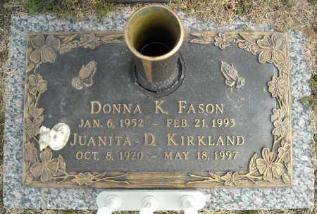 FASON, DONNA K. - Faulkner County, Arkansas | DONNA K. FASON - Arkansas Gravestone Photos