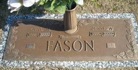 FASON, JESSE W. - Faulkner County, Arkansas | JESSE W. FASON - Arkansas Gravestone Photos