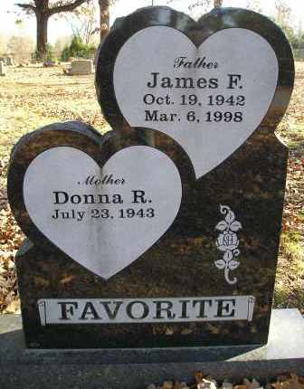 FAVORITE, JAMES F - Faulkner County, Arkansas | JAMES F FAVORITE - Arkansas Gravestone Photos