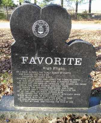 FAVORITE (REVERSE), JAMES F. - Faulkner County, Arkansas | JAMES F. FAVORITE (REVERSE) - Arkansas Gravestone Photos