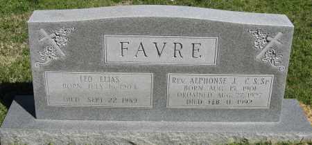FAVRE REV C.S.SP., ALPHONSE J. - Faulkner County, Arkansas | ALPHONSE J. FAVRE REV C.S.SP. - Arkansas Gravestone Photos