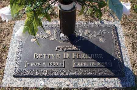 FEREBEE, BETTYE D. - Faulkner County, Arkansas | BETTYE D. FEREBEE - Arkansas Gravestone Photos