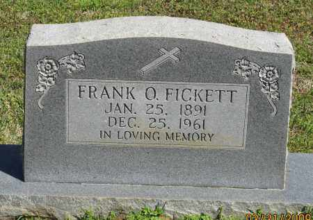 FICKETT, FRANK O. - Faulkner County, Arkansas | FRANK O. FICKETT - Arkansas Gravestone Photos