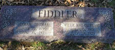 FIDDLER, LYMAN THOMAS - Faulkner County, Arkansas | LYMAN THOMAS FIDDLER - Arkansas Gravestone Photos