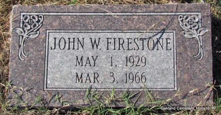 FIRESTONE, JOHN W. - Faulkner County, Arkansas | JOHN W. FIRESTONE - Arkansas Gravestone Photos