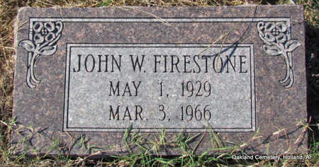 FIRESTONE, JOHN WILLIAM - Faulkner County, Arkansas | JOHN WILLIAM FIRESTONE - Arkansas Gravestone Photos