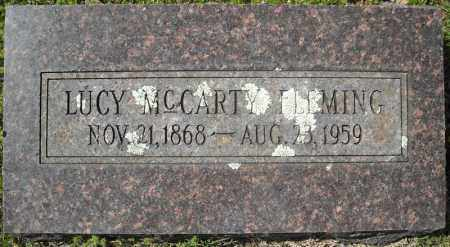 MCCARTY FLEMING, LUCY - Faulkner County, Arkansas | LUCY MCCARTY FLEMING - Arkansas Gravestone Photos