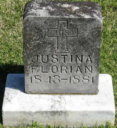 FLORIAN, JUSTINA - Faulkner County, Arkansas | JUSTINA FLORIAN - Arkansas Gravestone Photos