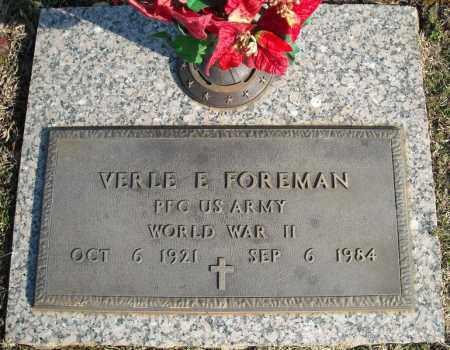FOREMAN (VETERAN WWII), VERLE E - Faulkner County, Arkansas | VERLE E FOREMAN (VETERAN WWII) - Arkansas Gravestone Photos