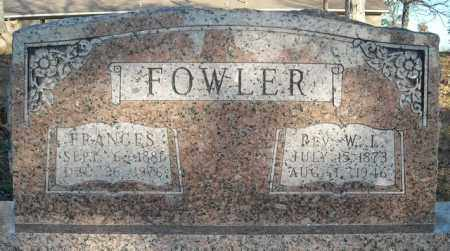FOWLER, REV., W.L. - Faulkner County, Arkansas | W.L. FOWLER, REV. - Arkansas Gravestone Photos