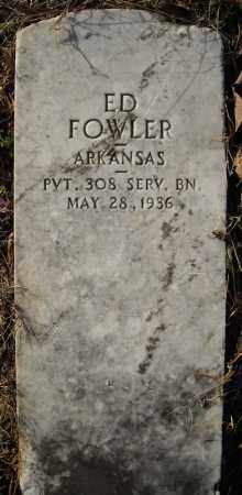 FOWLER (VETERAN), ED - Faulkner County, Arkansas | ED FOWLER (VETERAN) - Arkansas Gravestone Photos