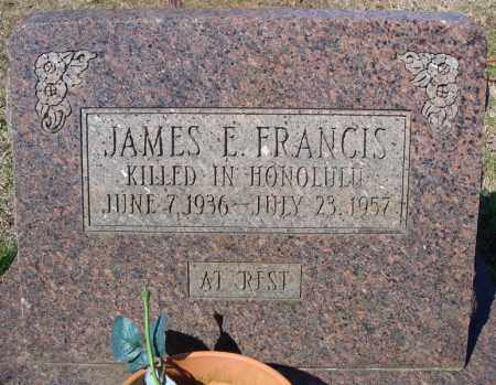 FRANCIS, JAMES E. - Faulkner County, Arkansas | JAMES E. FRANCIS - Arkansas Gravestone Photos