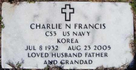 FRANCIS (VETERAN KOR), CHARLIE N - Faulkner County, Arkansas | CHARLIE N FRANCIS (VETERAN KOR) - Arkansas Gravestone Photos