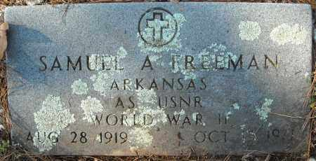 FREEMAN (VETERAN WWII), SAMUEL A - Faulkner County, Arkansas | SAMUEL A FREEMAN (VETERAN WWII) - Arkansas Gravestone Photos