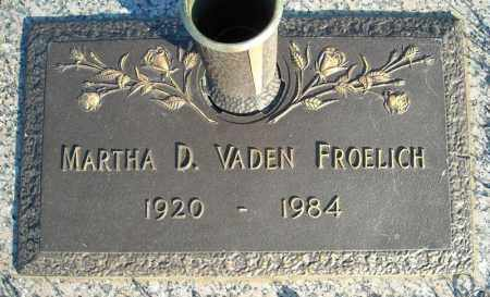 FROELICH, MARTHA D. - Faulkner County, Arkansas | MARTHA D. FROELICH - Arkansas Gravestone Photos