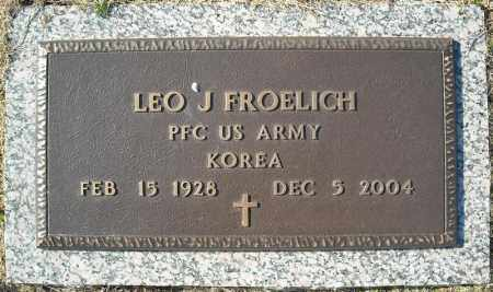 FROELICH (VETERAN KOR), LEO J - Faulkner County, Arkansas | LEO J FROELICH (VETERAN KOR) - Arkansas Gravestone Photos
