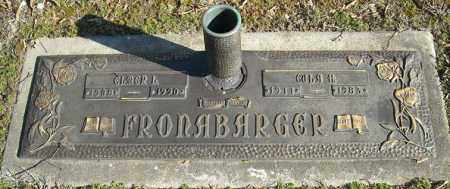 FRONABARGER, EULA H. - Faulkner County, Arkansas | EULA H. FRONABARGER - Arkansas Gravestone Photos