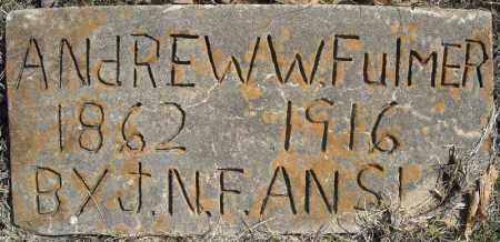 FULMER, ANDREW W. - Faulkner County, Arkansas | ANDREW W. FULMER - Arkansas Gravestone Photos