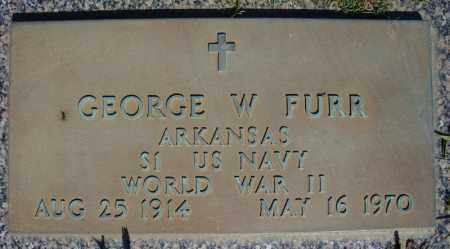 FURR (VETERAN WWII), GEORGE W - Faulkner County, Arkansas | GEORGE W FURR (VETERAN WWII) - Arkansas Gravestone Photos