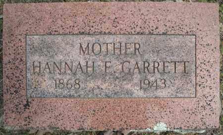 GARRETT, HANNAH E. - Faulkner County, Arkansas | HANNAH E. GARRETT - Arkansas Gravestone Photos