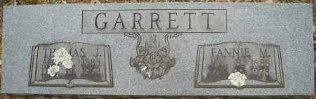 GARRETT, FANNIE M. - Faulkner County, Arkansas | FANNIE M. GARRETT - Arkansas Gravestone Photos