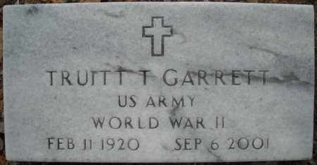 GARRETT (VETERAN WWII), TRUITT TOMMY - Faulkner County, Arkansas | TRUITT TOMMY GARRETT (VETERAN WWII) - Arkansas Gravestone Photos