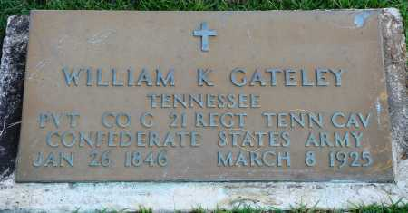 GATELEY  (VETERAN CSA), WILLIAM K - Faulkner County, Arkansas | WILLIAM K GATELEY  (VETERAN CSA) - Arkansas Gravestone Photos