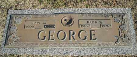 GEORGE, JOHN W. - Faulkner County, Arkansas | JOHN W. GEORGE - Arkansas Gravestone Photos