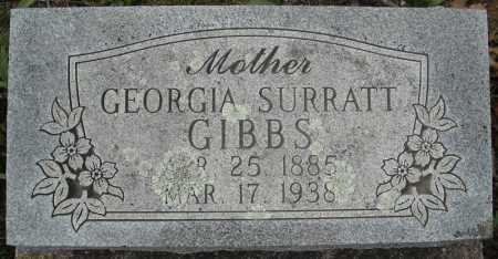 SURRATT GIBBS, GEORGIA - Faulkner County, Arkansas | GEORGIA SURRATT GIBBS - Arkansas Gravestone Photos