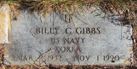 GIBBS (VETERAN KOR), BILLY C - Faulkner County, Arkansas | BILLY C GIBBS (VETERAN KOR) - Arkansas Gravestone Photos
