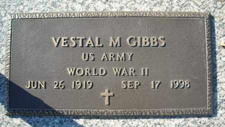GIBBS (VETERAN WWII), VESTAL M - Faulkner County, Arkansas | VESTAL M GIBBS (VETERAN WWII) - Arkansas Gravestone Photos
