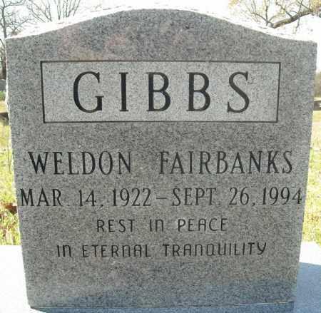 GIBBS, WELDON FAIRBANKS - Faulkner County, Arkansas | WELDON FAIRBANKS GIBBS - Arkansas Gravestone Photos