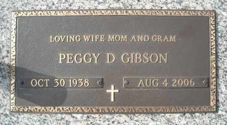 GIBSON, PEGGY D. - Faulkner County, Arkansas | PEGGY D. GIBSON - Arkansas Gravestone Photos