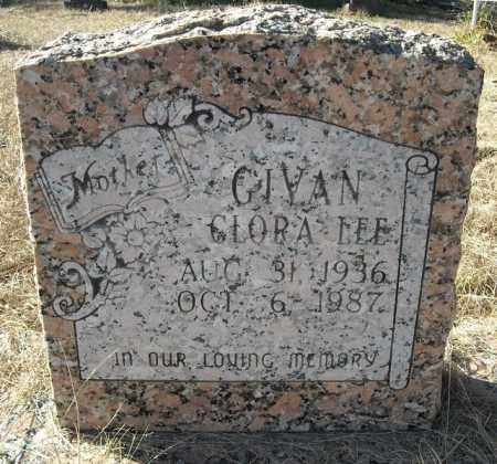 GIVAN, CLORA LEE - Faulkner County, Arkansas | CLORA LEE GIVAN - Arkansas Gravestone Photos