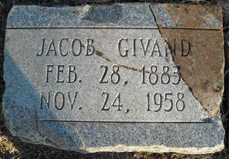 GIVAND, JACOB - Faulkner County, Arkansas | JACOB GIVAND - Arkansas Gravestone Photos