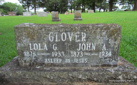 GLOVER, JOHN A. - Faulkner County, Arkansas | JOHN A. GLOVER - Arkansas Gravestone Photos