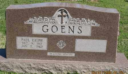 GOENS, PAUL RALPH - Faulkner County, Arkansas | PAUL RALPH GOENS - Arkansas Gravestone Photos