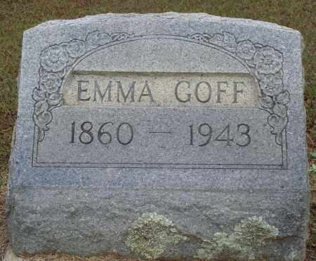 GOFF, EMMA - Faulkner County, Arkansas | EMMA GOFF - Arkansas Gravestone Photos
