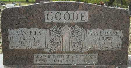 GOODE, MINNIE LOUISE - Faulkner County, Arkansas | MINNIE LOUISE GOODE - Arkansas Gravestone Photos