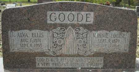 GOODE, ALVA ELLIS - Faulkner County, Arkansas | ALVA ELLIS GOODE - Arkansas Gravestone Photos