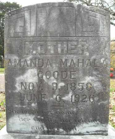 GOODE, AMANDA MAHALA - Faulkner County, Arkansas | AMANDA MAHALA GOODE - Arkansas Gravestone Photos