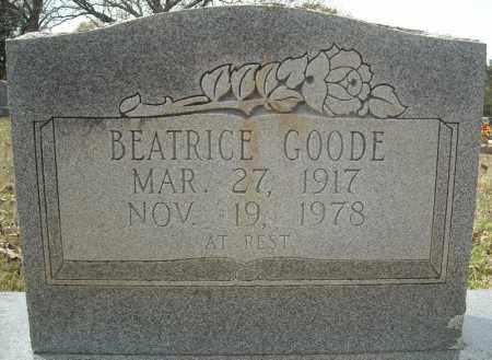 GOODE, BEATRICE - Faulkner County, Arkansas | BEATRICE GOODE - Arkansas Gravestone Photos