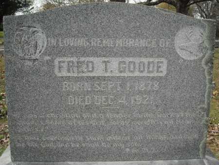 GOODE, FRED T. - Faulkner County, Arkansas   FRED T. GOODE - Arkansas Gravestone Photos