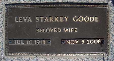 STARKEY GOODE, LEVA - Faulkner County, Arkansas | LEVA STARKEY GOODE - Arkansas Gravestone Photos