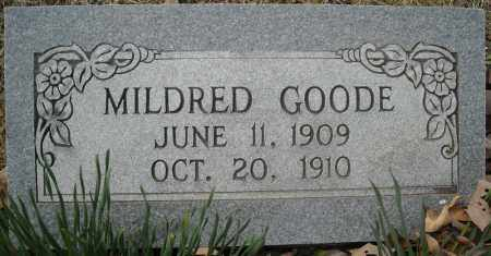 GOODE, MILDRED - Faulkner County, Arkansas | MILDRED GOODE - Arkansas Gravestone Photos
