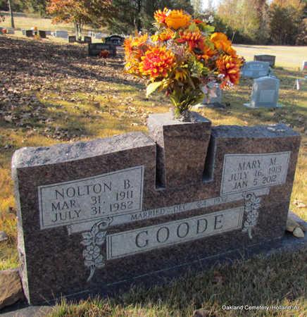 GOODE, NOLTON B. - Faulkner County, Arkansas | NOLTON B. GOODE - Arkansas Gravestone Photos