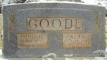 GOODE, OTHO G. - Faulkner County, Arkansas | OTHO G. GOODE - Arkansas Gravestone Photos