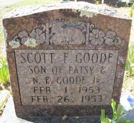 GOODE, SCOTT F. - Faulkner County, Arkansas   SCOTT F. GOODE - Arkansas Gravestone Photos
