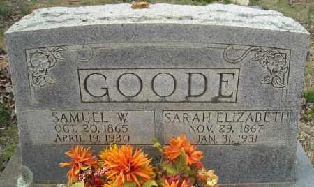 GOODE, SAMUEL W. - Faulkner County, Arkansas | SAMUEL W. GOODE - Arkansas Gravestone Photos