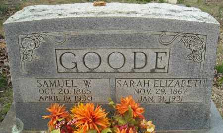 GOODE, SARAH ELIZABETH - Faulkner County, Arkansas | SARAH ELIZABETH GOODE - Arkansas Gravestone Photos